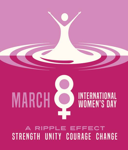 international women's day march 8th. poster, card,  banner design. - international womens day stock illustrations, clip art, cartoons, & icons