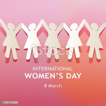 istock International Women's Day Paper Chain 1203132030