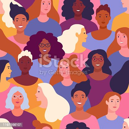 istock International Women's Day pattern. 1197166101