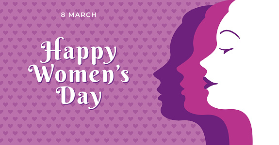 International Women's Day template for advertising, banners, leaflets and flyers.