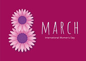 International Women's Day template for advertising, banners, leaflets and flyers - Illustration
