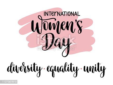 International Womens Day typography