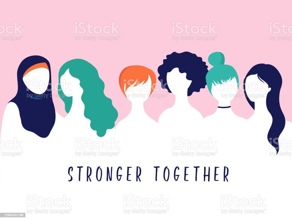 International Women's Day. Vector illustration, card, poster, flyer and banner. vector art illustration