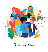 International Women's Day. Vector illustration, card, poster, flyer and banner template