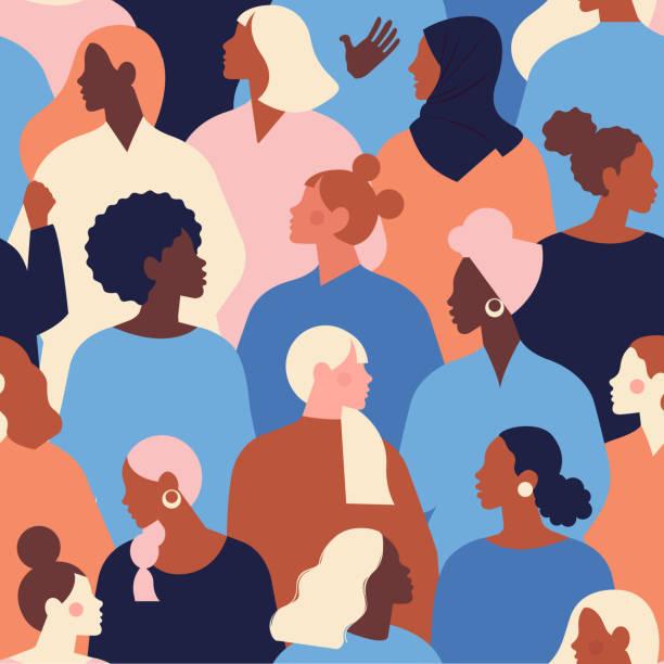 międzynarodowy dzień kobiet. szablony wektorowe dla kart, plakatów, ulotek i innych użytkowników. - grupa przedmiotów stock illustrations