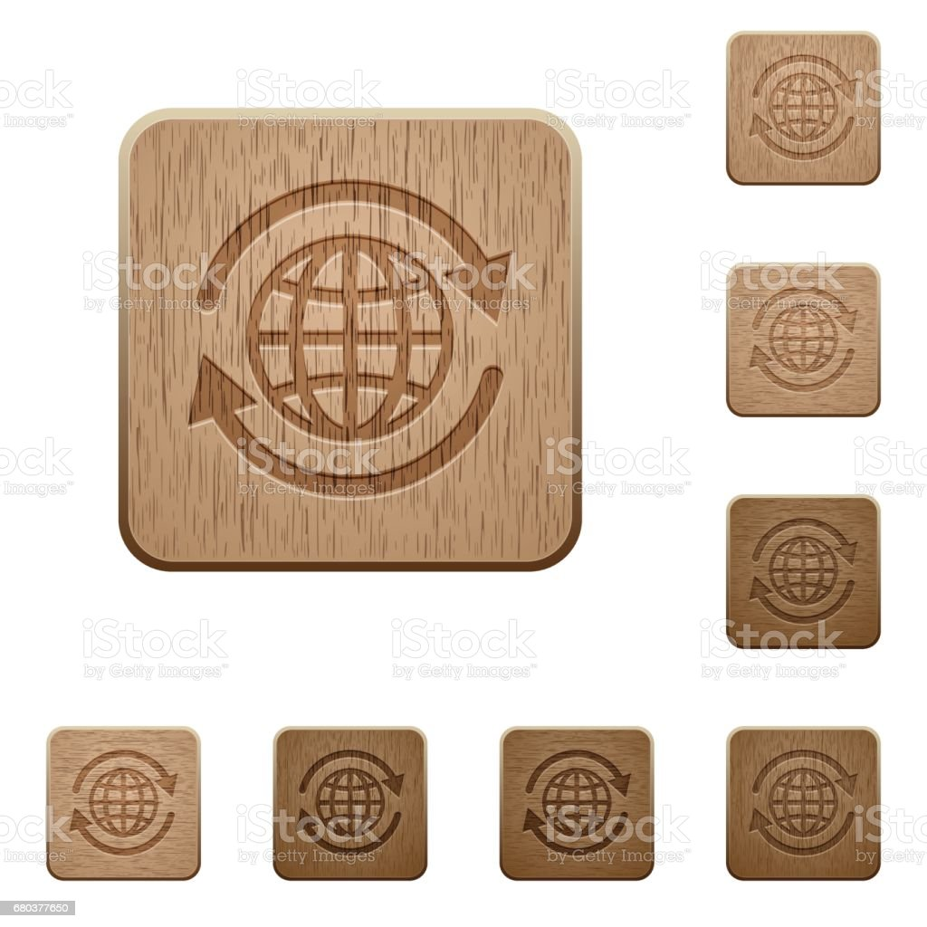 International wooden buttons royalty-free international wooden buttons stock vector art & more images of applying