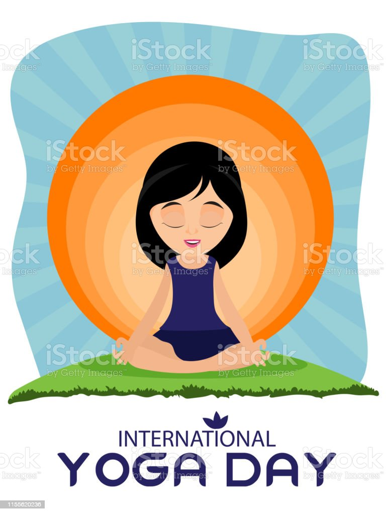 International Yoga Day 21st June Poster Or Flyer Design Cartoon Character Of A Woman In Meditation Pose Stock Illustration Download Image Now Istock