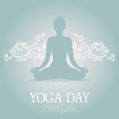 international yoga day illustration with a beautiful decor