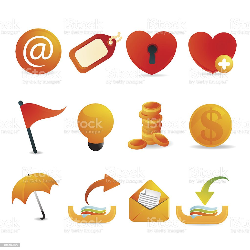Internet and communication Icons vector art illustration