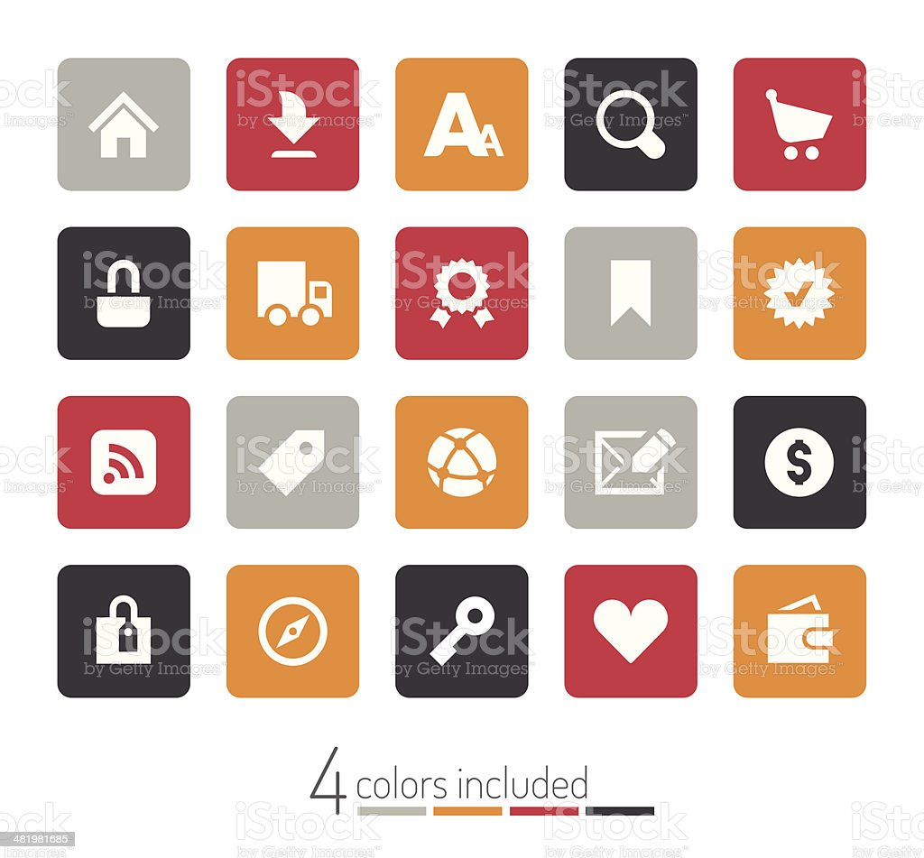 Internet and e-Commerce icons | echo series royalty-free stock vector art