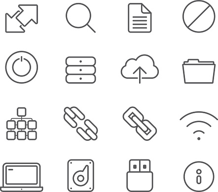 Internet and Media Servers - Simple Icons