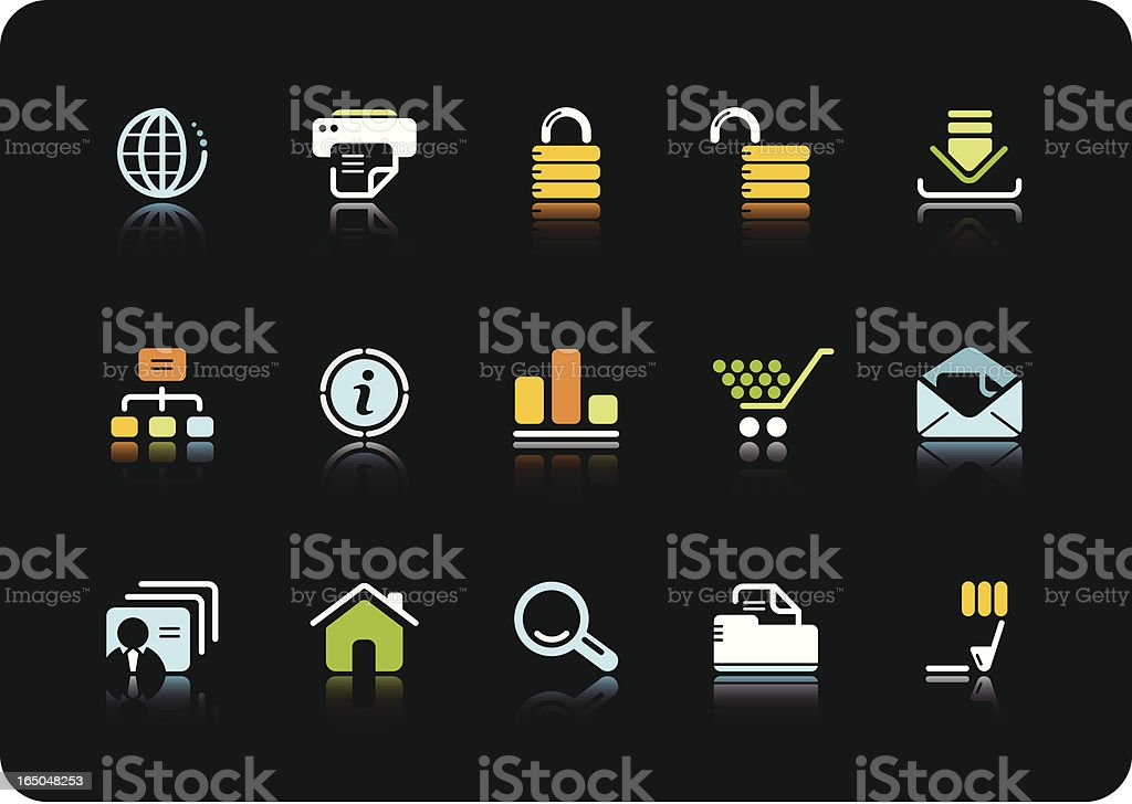 Internet and Web icons   color series royalty-free stock vector art