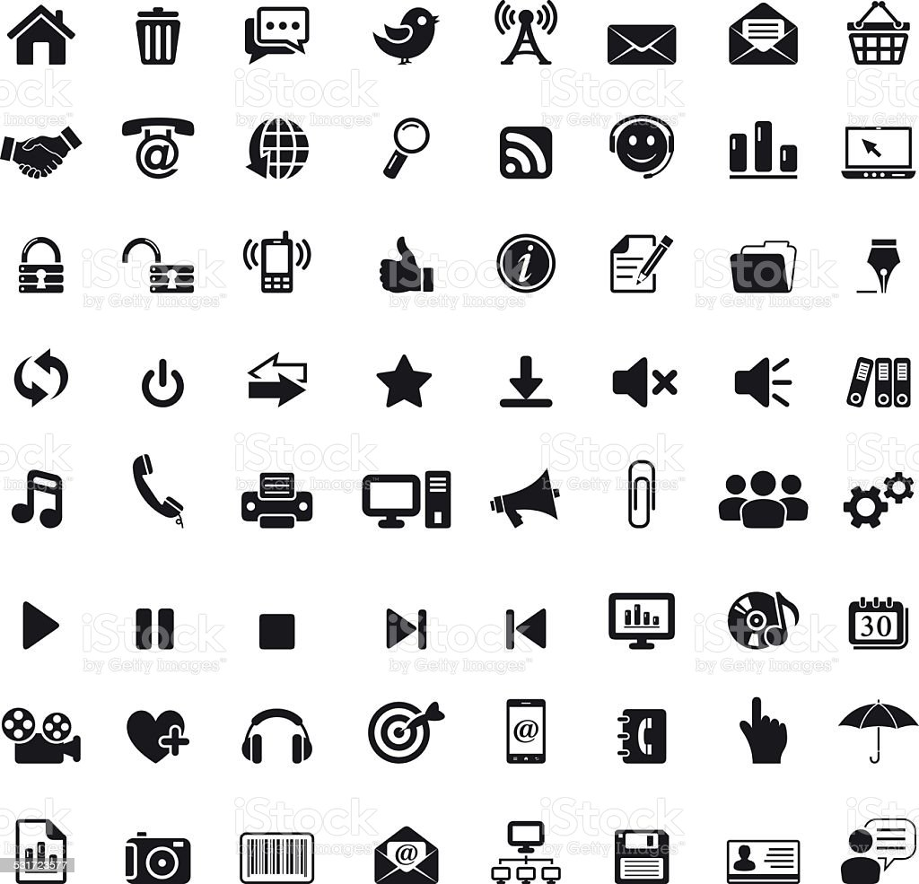 Internet And Web Icons vector art illustration