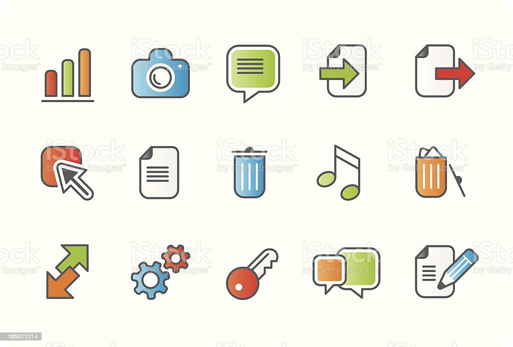 Internet and website business icons - colour 03 royalty-free stock vector art