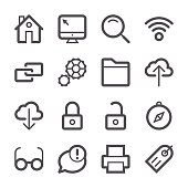Internet and Website Icons set 1 | Stroke Series