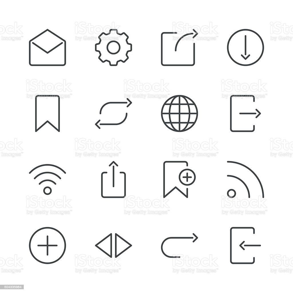 Internet and Website Icons set 2 | Black Line series