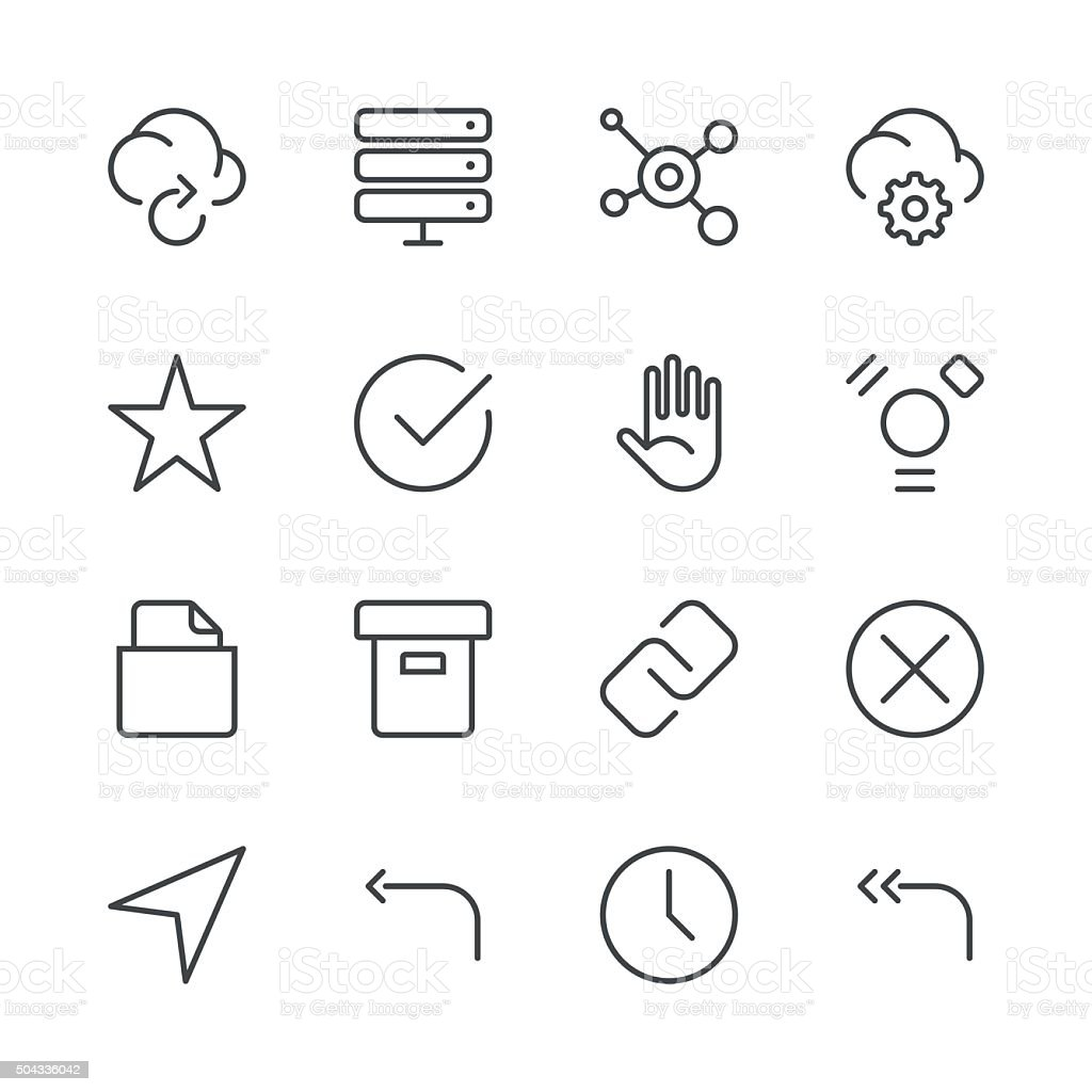 Internet and Website Icons set 3 | Black Line series vector art illustration