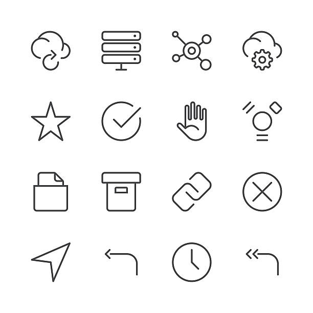 Internet and Website Icons set 3   Black Line series Set of 16 professional and pixel perfect icons ready to be used in all kinds of design projects. EPS 10 file. receiving stock illustrations