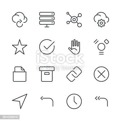 Internet Und Websitesymbole Set 3schwarzserie Stock Vektor