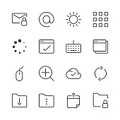 Set of 16 professional and pixel perfect icons ready to be used in all kinds of design projects. EPS 10 file.