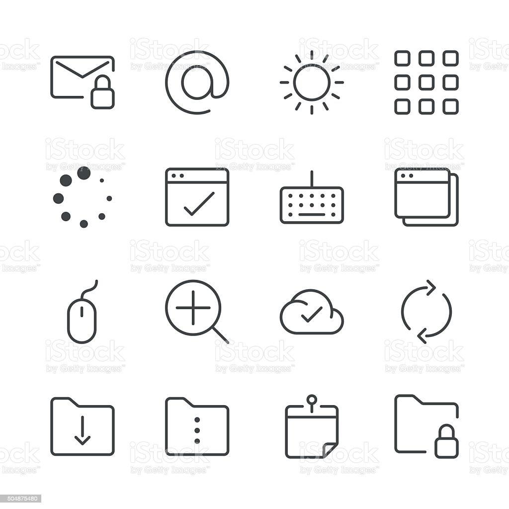 Site Web et Internet icônes set 4/Black Line series - Illustration vectorielle