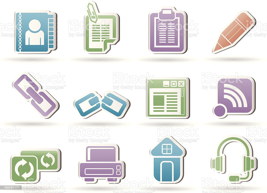 internet and website objects royalty-free stock vector art
