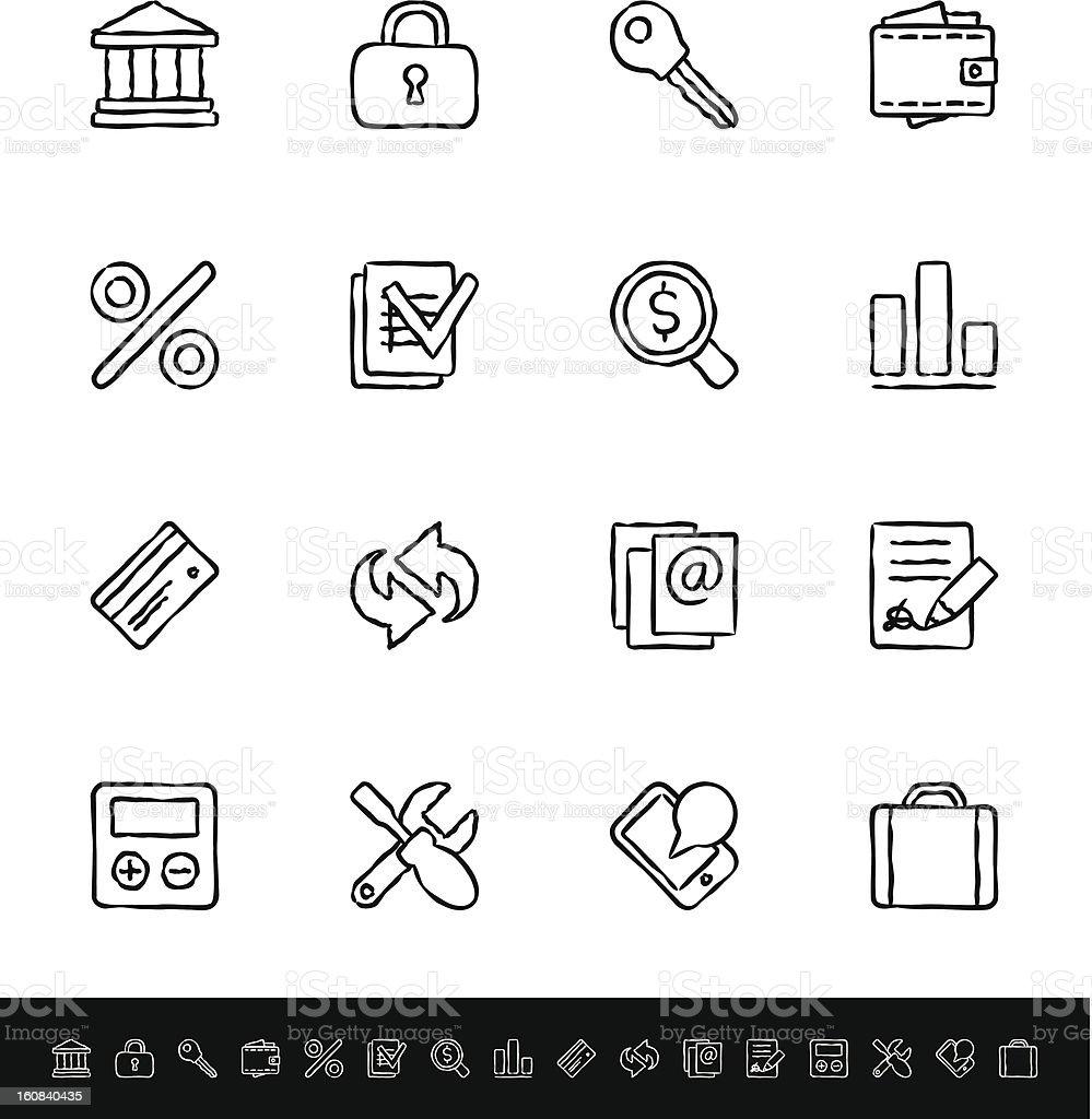 Internet, serviços bancários - ilustração de arte em vetor