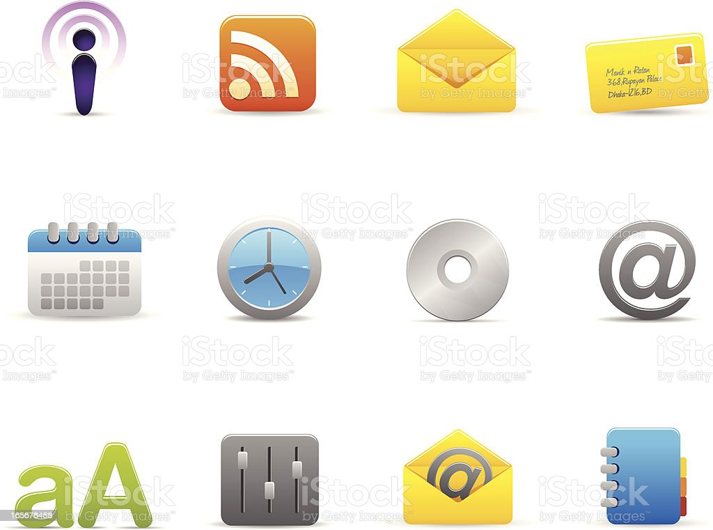 Internet  based Icon set royalty-free stock vector art