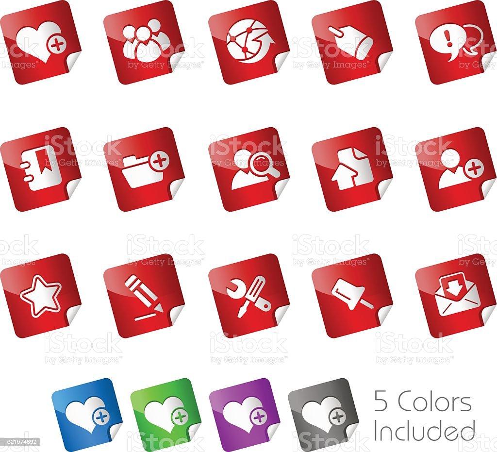Internet & Blog Icons // Stickers Series internet blog icons stickers series – cliparts vectoriels et plus d'images de affaires libre de droits