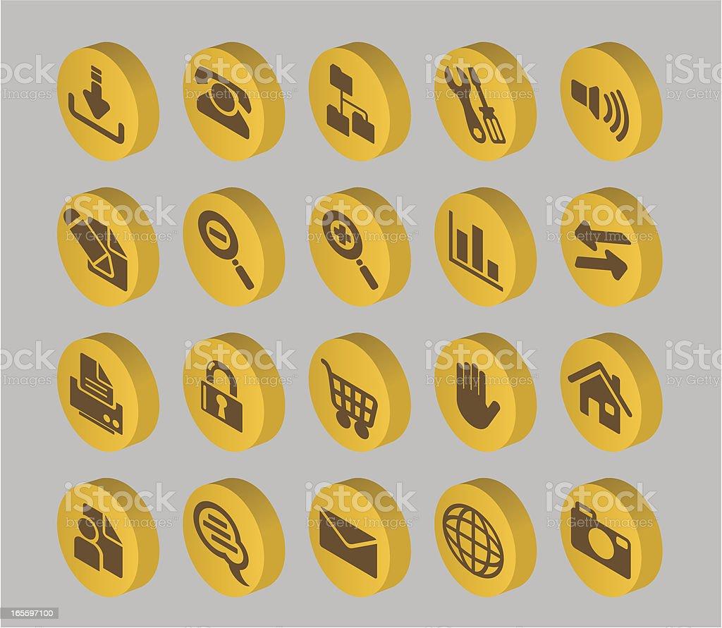 Coleção de botão à Internet ilustração de coleção de botão à internet e mais banco de imagens de balão - símbolo ortográfico royalty-free