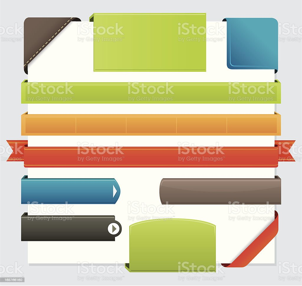 Internet buttons elements royalty-free stock vector art