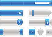 Modern collection of Internet buttons.