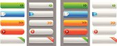 Glossy Internet buttons. Versions for White and Grey backgrounds included. Smartly grouped layers.