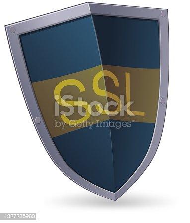 istock SSL Internet communication security protocol shield 1327235960