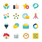 Flat design internet communication  related icons can beautify your designs & graphic