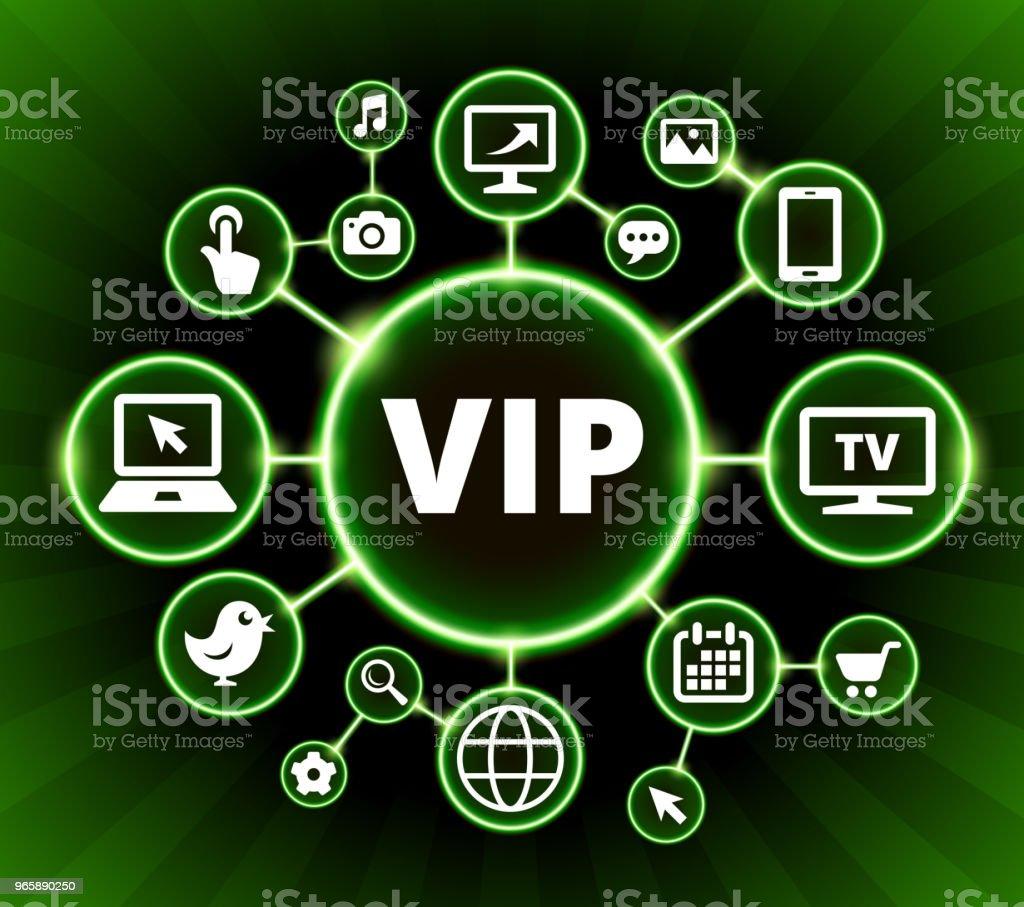 VIP Internet communicatie technologie Dark knoppen achtergrond - Royalty-free Achtergrond - Thema vectorkunst