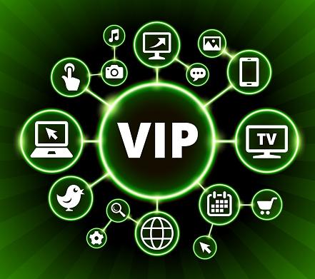 Vip Internet Communicatie Technologie Dark Knoppen Achtergrond Stockvectorkunst en meer beelden van Achtergrond - Thema