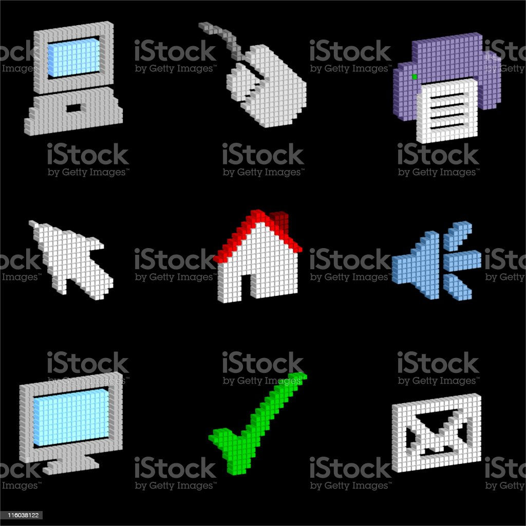 3D computer/internet icon set