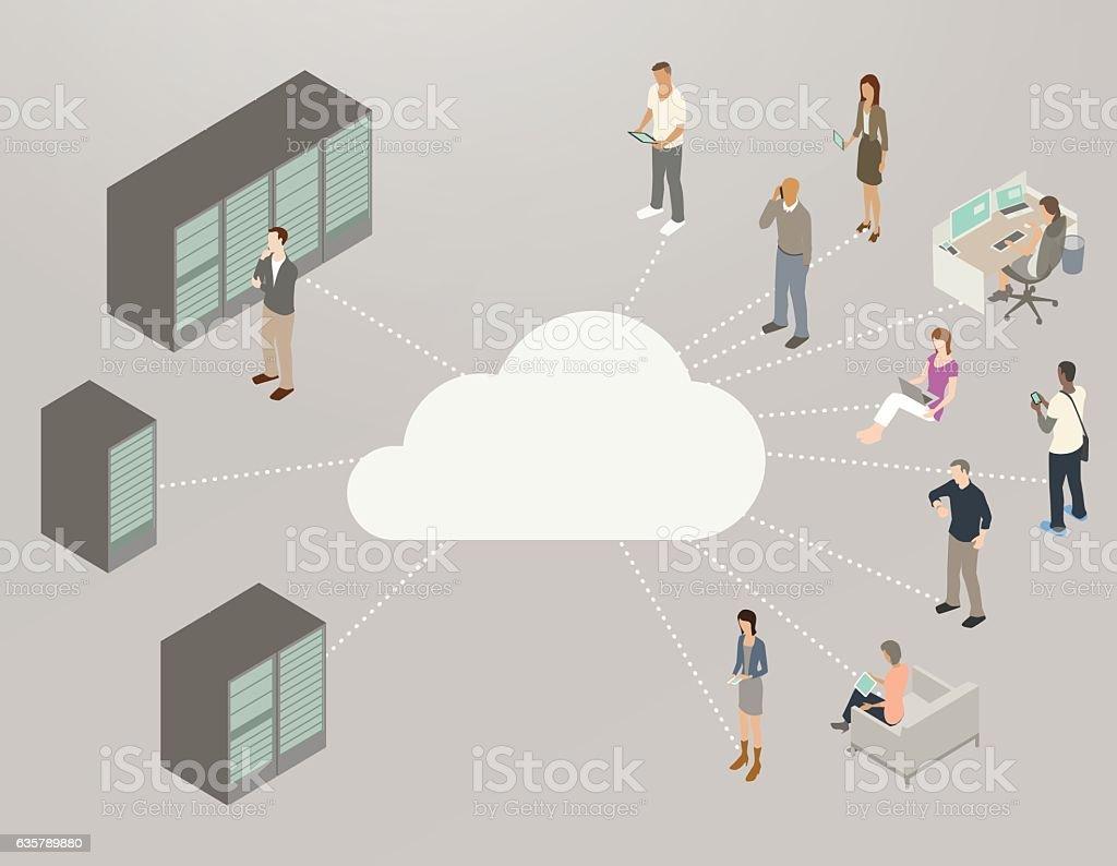 Internet Diagram Illustration vector art illustration