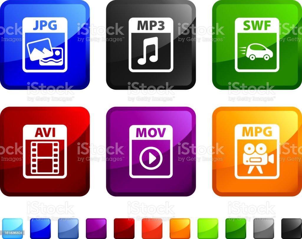Internet Download royalty free vector icon setsticker royalty-free stock vector art