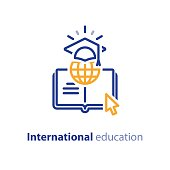 Internet educational resources, online learning courses, open library, international university