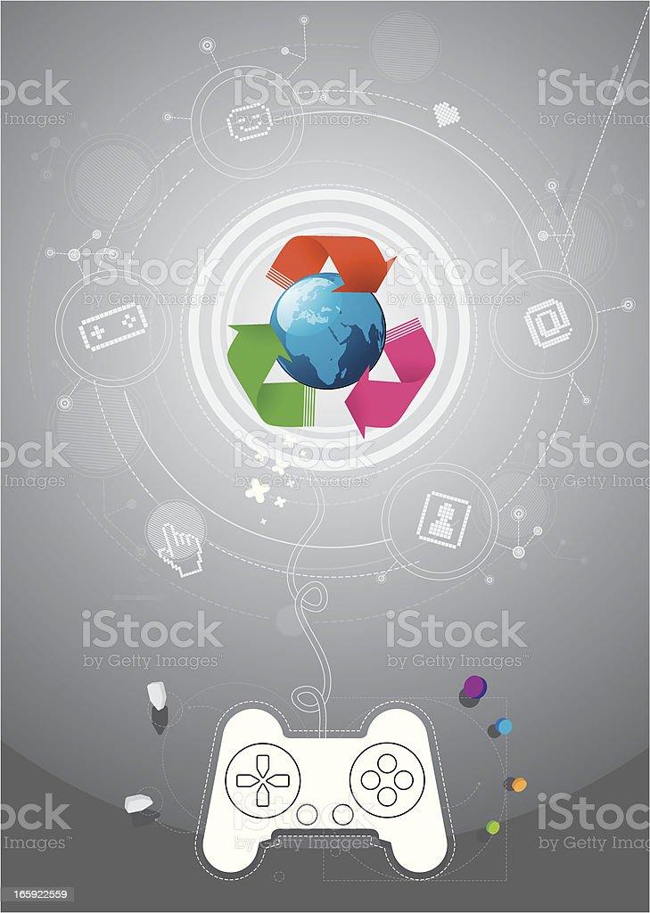 Internet gaming vector art illustration