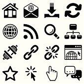internet icon set black