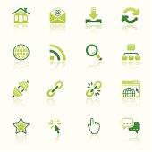internet icon set eco reflection