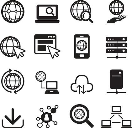 Internet Icon Set Stock Illustration - Download Image Now ...