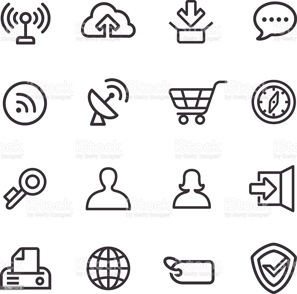 Internet Icons - Line Series vector art illustration