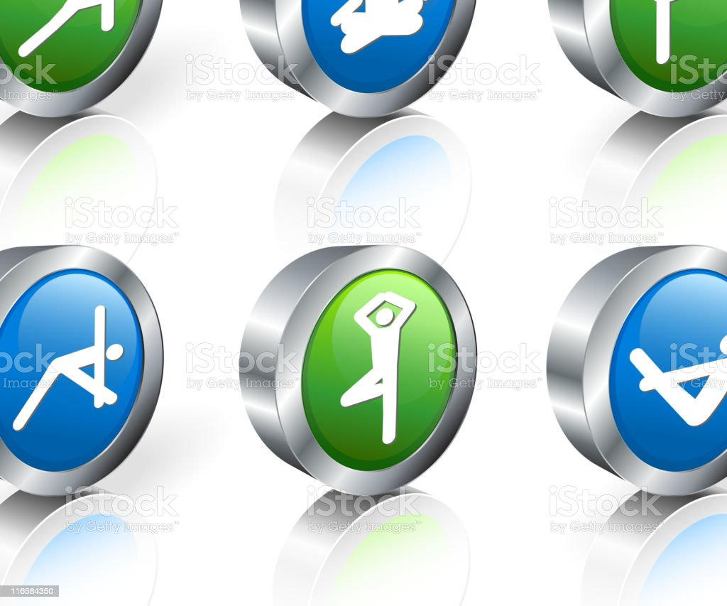 Internet icons referring to yoga royalty-free internet icons referring to yoga stock vector art & more images of blue