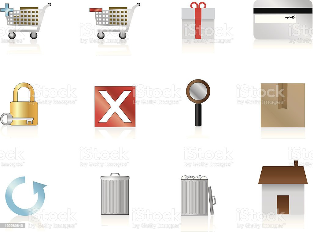 Internet Icons Series 1 - E-Commerce royalty-free stock vector art