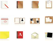 A collection of document based icons/buttons suitable for web sites/applications etc.
