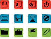 A collection of file management based icons/buttons suitable for web sites/applications etc. Includes zip file with all icons on all colours.